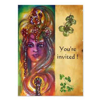 DURENDAL ,St Patrick's Day Party ,brown parchment 13 Cm X 18 Cm Invitation Card
