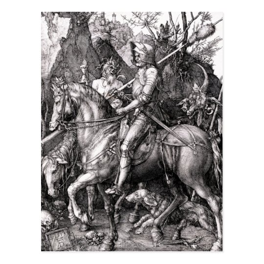 Durer Knight Death and the Devil Postcard