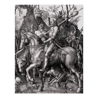 Durer Knight Death and the Devil Poster