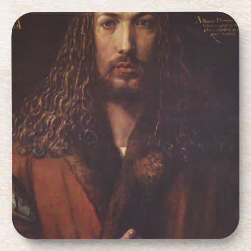 Dürer Portrait Beverage Coasters