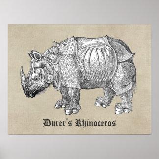 Durer Rhino Poster