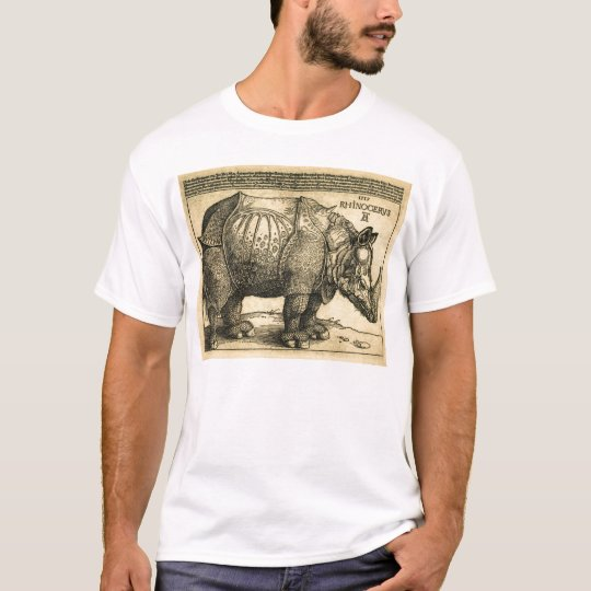 Durer Rhinoceros T Shirt for Men Antique Style