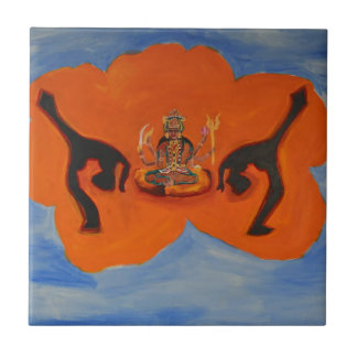 DURGA DANCER SMALL SQUARE TILE