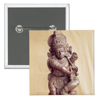 Durga, from Southern India 15 Cm Square Badge