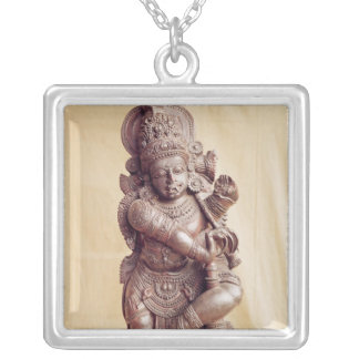 Durga, from Southern India Silver Plated Necklace