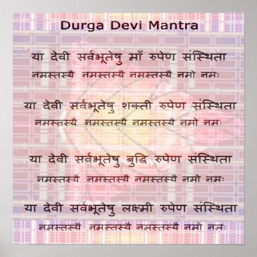 Durga Mantra - Recitation Meditation Script Poster
