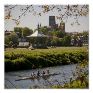 Durham Bandstand & Cathedral Poster