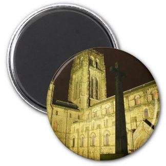 Durham by night 6 cm round magnet