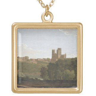 Durham, c.1790-1800 (oil on canvas) gold plated necklace
