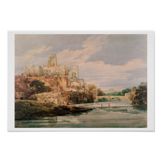 Durham Castle and Cathedral w c Print