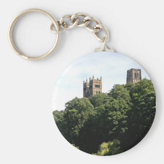 Durham Cathedral Basic Round Button Key Ring