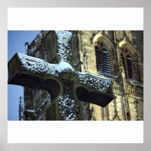 Durham Cathedral Cross Print