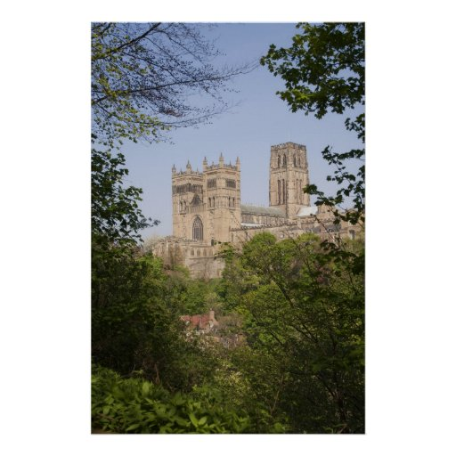 Durham Cathedral from River Bank Print