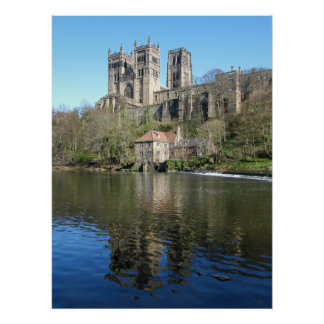 Durham Cathedral & Mill Poster