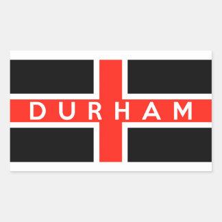 durham city flag england british text name rectangular sticker