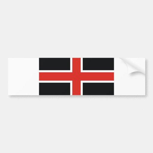 durham city flag united kingdom town bumper stickers