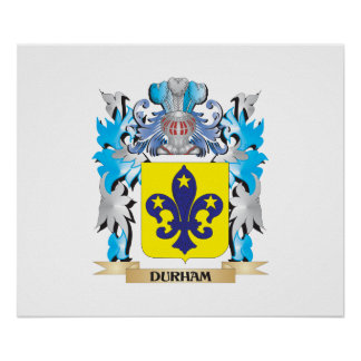 Durham Coat of Arms - Family Crest Print