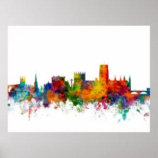 Durham England Skyline Cityscape Poster