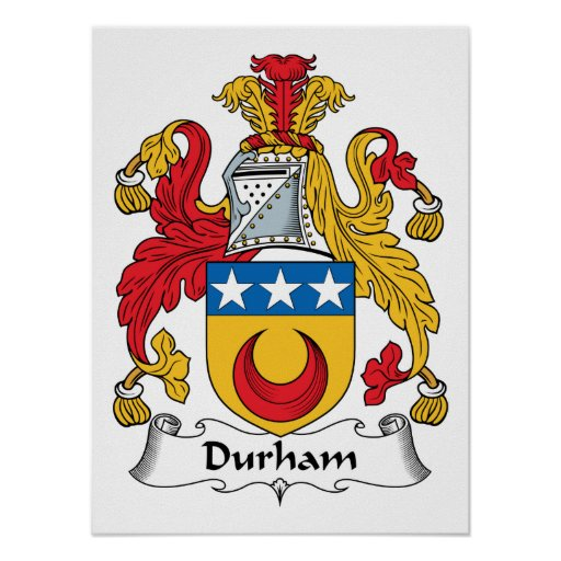 Durham Family Crest Poster
