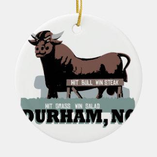 Durham NC Bull Christmas Ornament