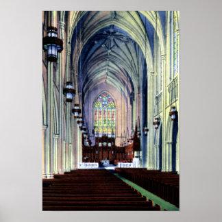 Durham North Carolina Duke Chapel Poster