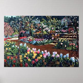 Durham North Carolina Memorial Gardens Poster