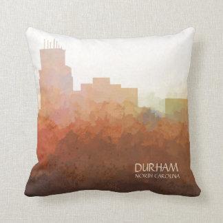 Durham, North Carolina Skyline-In the Clouds Cushion