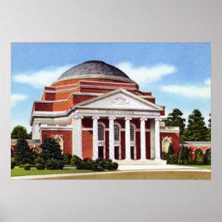 Durham North Carolina Univ. Baldwin Auditoriu Poster
