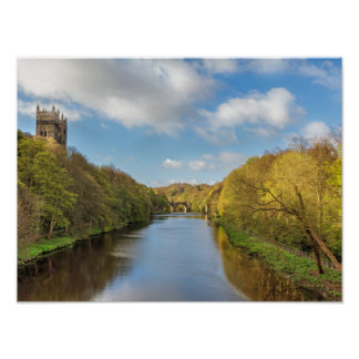 Durham River in Summer Poster