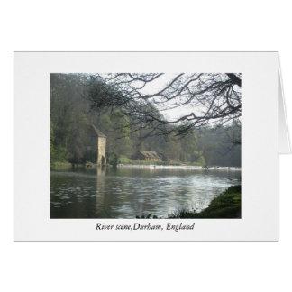 durham river, River scene,Durham, England Card