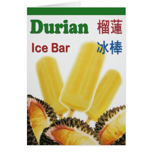 Durian Ice Bar Tropical Fruit Popsicle Card | Zazzle