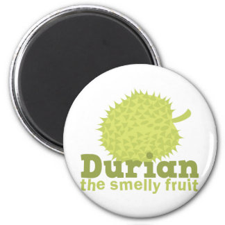 Durian the smelly fruit 6 cm round magnet
