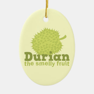 Durian the Smelly Fruit (from South east Asia) Ceramic Oval Decoration