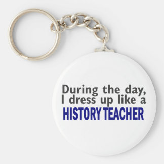 During The Day (History Teacher) Basic Round Button Key Ring