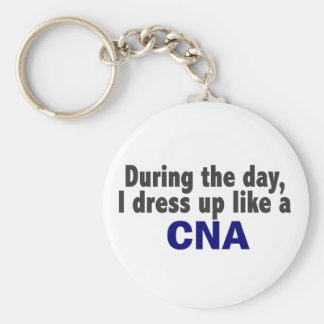 During The Day I Dress Up Like A CNA Key Ring