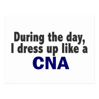 During The Day I Dress Up Like A CNA Postcard