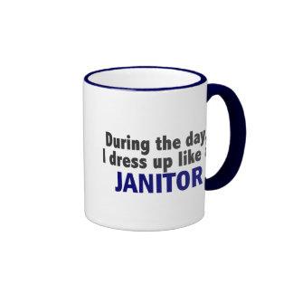 During The Day I Dress Up Like A Janitor Coffee Mug