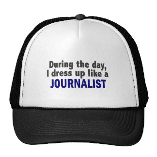 During The Day I Dress Up Like A Journalist Mesh Hats