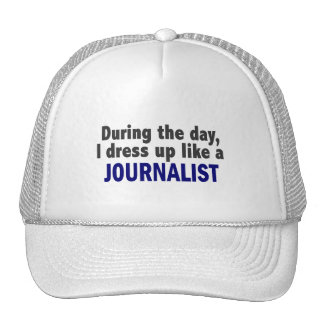 During The Day I Dress Up Like A Journalist Hat