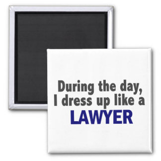 During The Day I Dress Up Like A Lawyer Magnet
