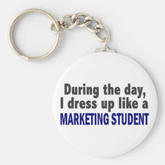 During The Day I Dress Up Like A Marketing Student Key Ring