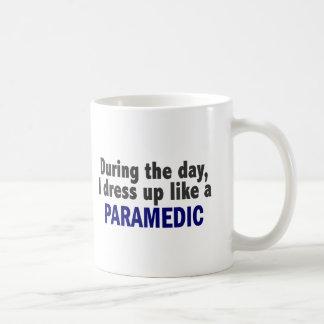 During The Day I Dress Up Like A Paramedic Basic White Mug