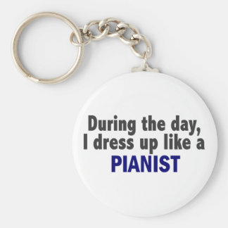 During The Day I Dress Up Like A Pianist Keychain