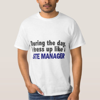 During The Day I Dress Up Like A Site Manager