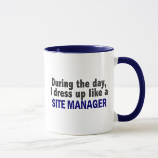 During The Day I Dress Up Like A Site Manager Mug