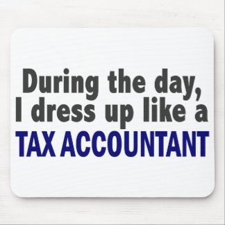 During The Day I Dress Up Like A Tax Accountant Mouse Mat