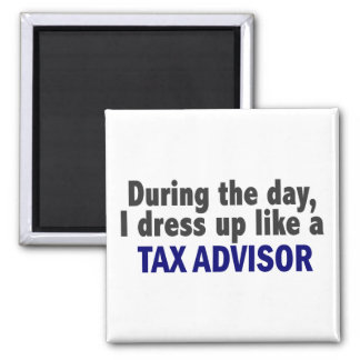 During The Day I Dress Up Like A Tax Advisor Magnet