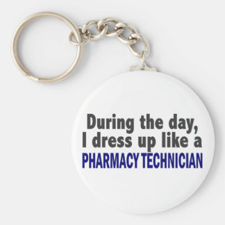 During The Day I Dress Up Like Pharmacy Technician Key Ring