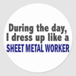 During The Day I Dress Up Like Sheet Metal Worker