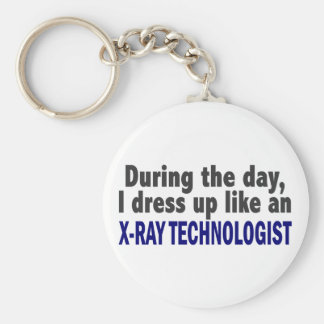 During The Day I Dress Up Like X-Ray Technologist Key Ring